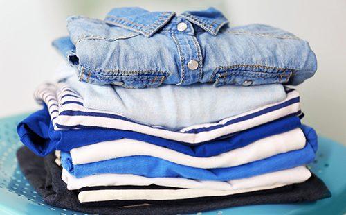 Стопка чистой одежды