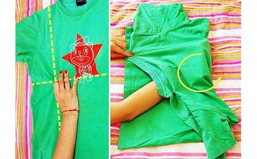 Оригами из зелёной футболки
