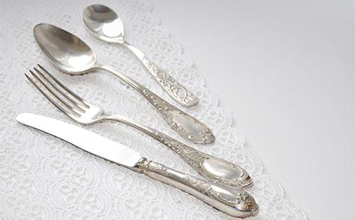 Серебрянные ложки и вилки