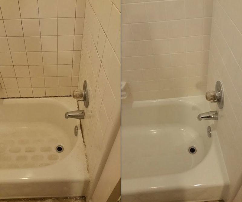 Грязная ванна с налетом