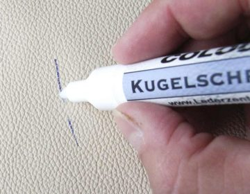 Как отмыть пятна от ручки с кожзама