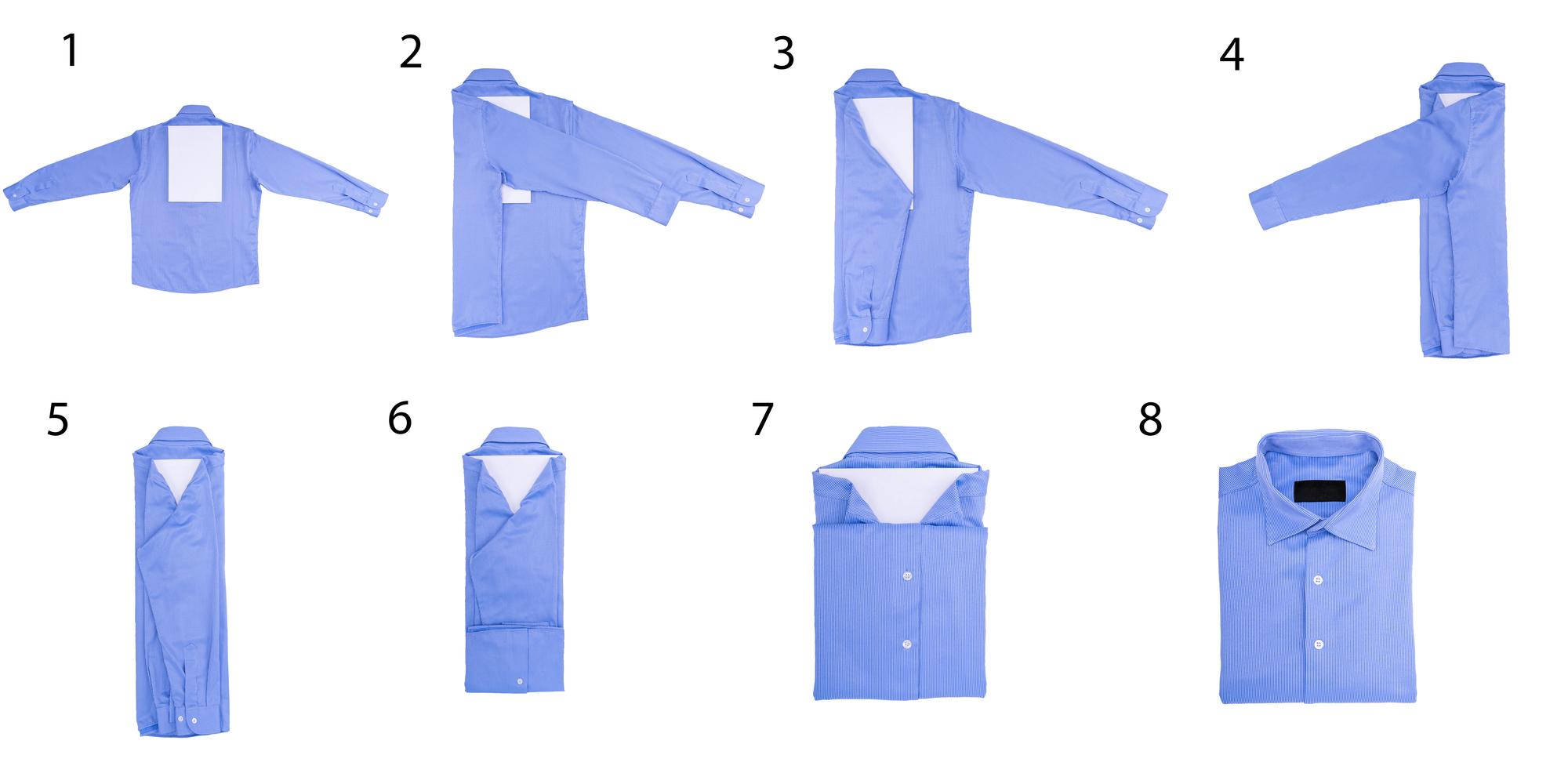 Как красиво свернуть футболку в подарок 9